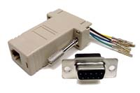 DB9M to RJ45F Modular Adapter