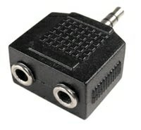 3.5mm Stereo Y Splitter 3.5mm 1 Male to 2 Female