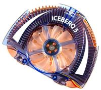 Iceberq5 VGA Chipset Cooler With Blue LED Lights,