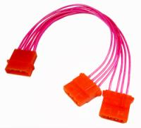8in Red UV Reactiveinternal Power Splitter Cable