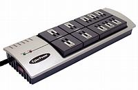10 Outlet High Performance Surge Strip With 6ft Cord