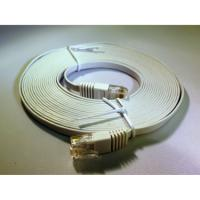 CAT6 UTP UltraFlat Ethernet Patch Cable, 5m (16 Ft.) White