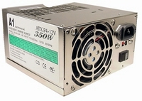 Power Supply, 350W, ATX, P3-P4 & AMD Approved, Dual Fan