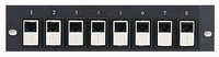 8 Port Cat6 Feed Thru Patch Panel within Line Couplers