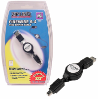 Retractable 6Pin to 4Pin Firewire Cable